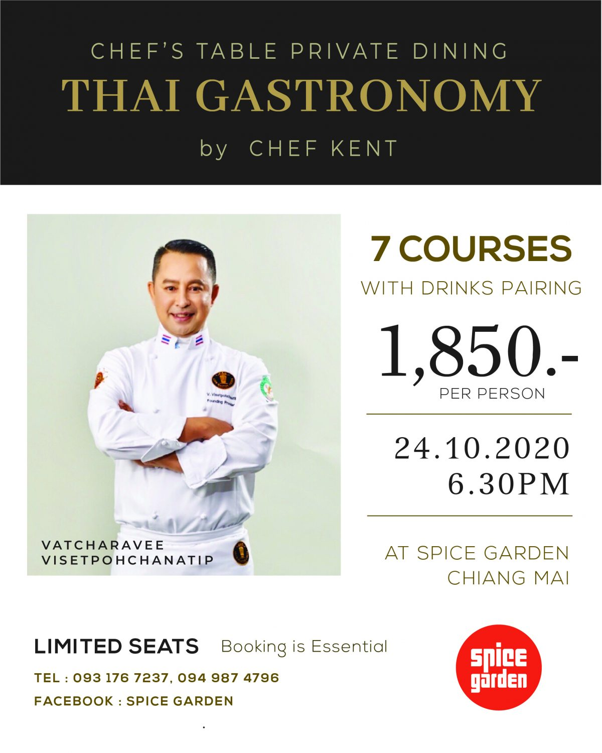 Thai Gastronomy by Chef KENT 24 Oct 2020