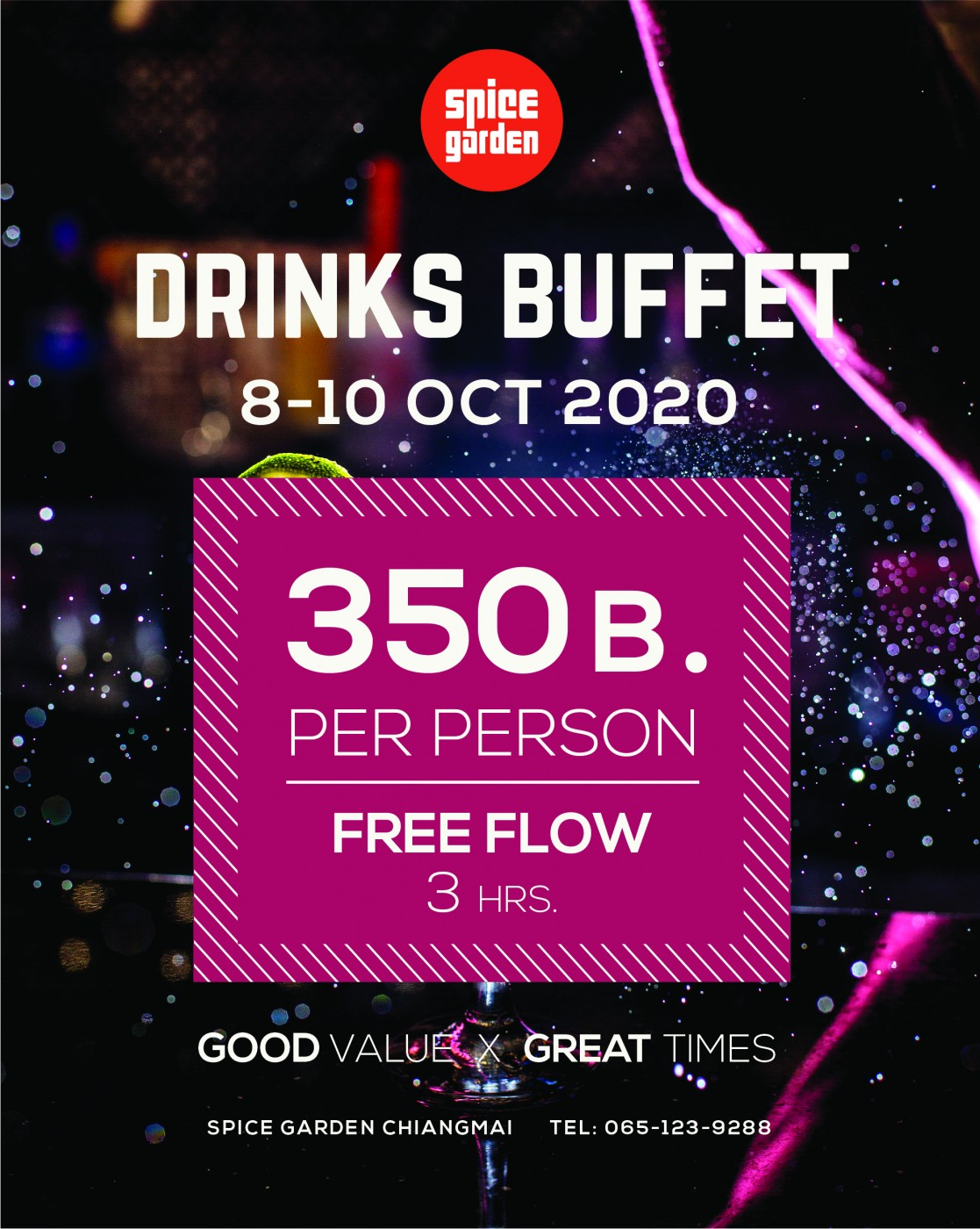 Drink Buffet 8-10 Oct 2020