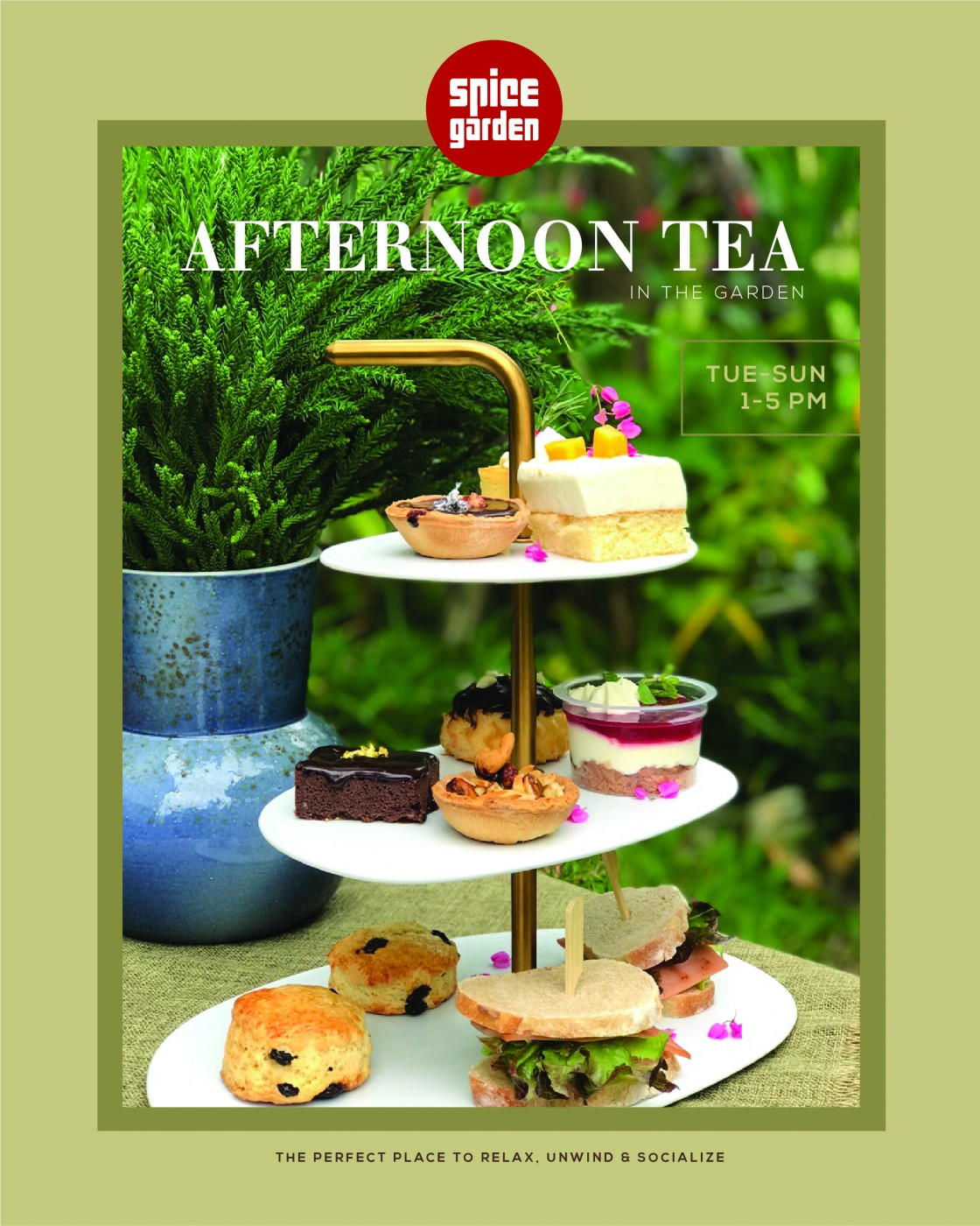 Afternoon Tea within the garden setting